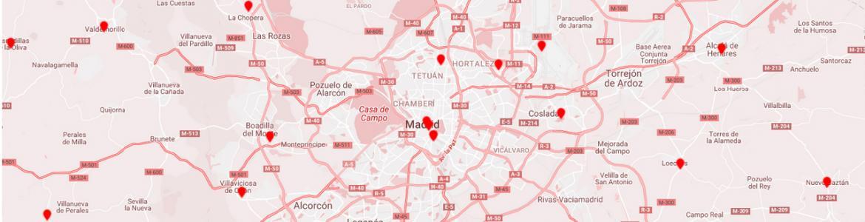 Mapa con oficinas de turismo