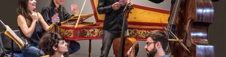 Agrupación de músicos e instrumentos