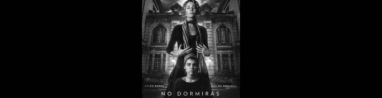 imagen del cartel de cine de la película No dormirás donde salen dos actores