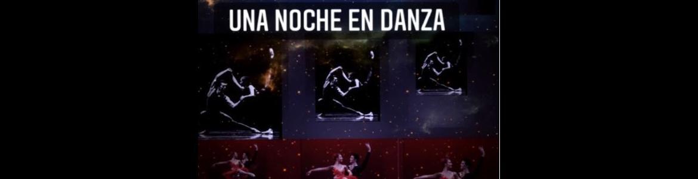 imagen del cartel de Una noche en danza donde se ve a varias bailarinas con tutu