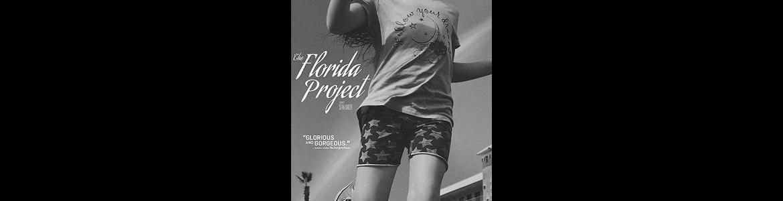 imagen del cartel de la película The Florida project en la que se ve a una niña corriendo