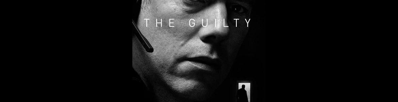 imagen del cartel de la película The guilty en la que se ve un primer plano del actor protagonista