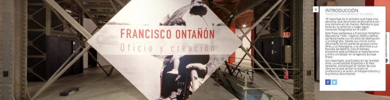 Vista de la entrada a la exposición de Ontañón en Sala Canal