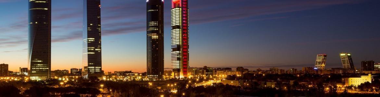 Skyline de Madrid. Las 4 torres y Puerta Europa