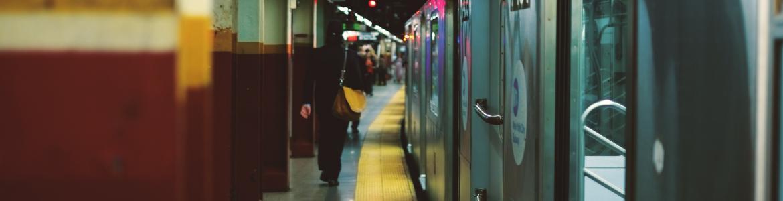 vista de estación de metro
