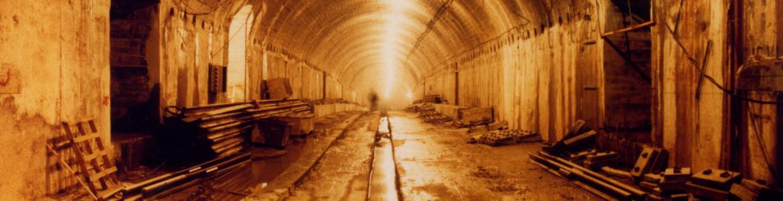 Túnel en ejecución. Método Belga