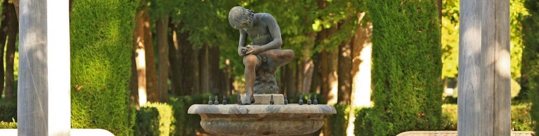 Fuente del niño de la espina.Jardín de la Isla de Aranjuez