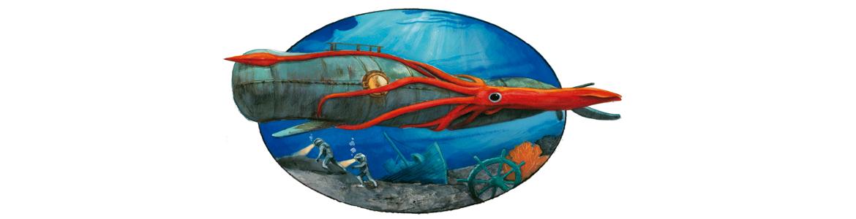 Dibujo de Fernando Vicente para 20000 leguas de viaje submarino