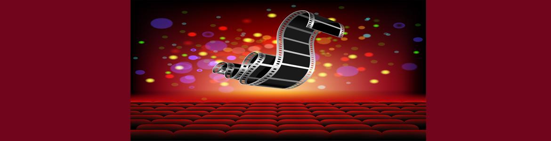 Patio de butacas y rollo de película