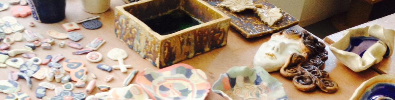 mesa de taller del cerámica