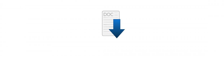 Icono de descarga de  fichero de Word