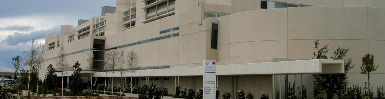 Fachada principal del Hospital Universitario de Fuenlabrada