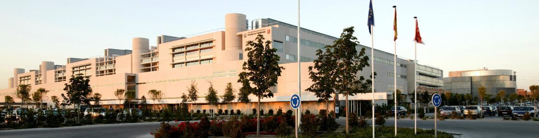 Entrada principal al Hospital de Fuenlabrada