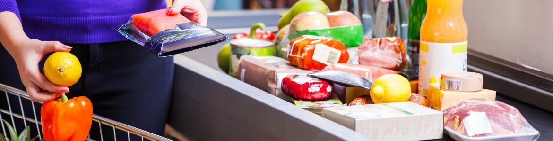 Imagen de la caja de un supermercado