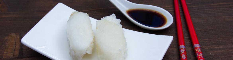 Comida japonesa(trozos de pescado)