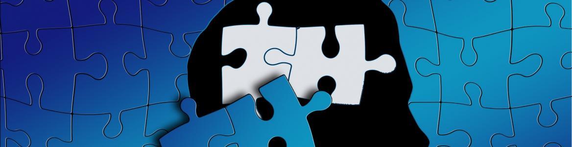 Puzzle silueta de una cabeza