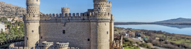 Castillo Manzanares el Real desde dron