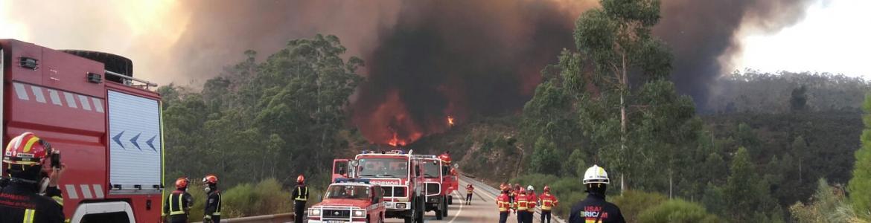 Actuación del ERICAM en los incendios de Portugal de 2017