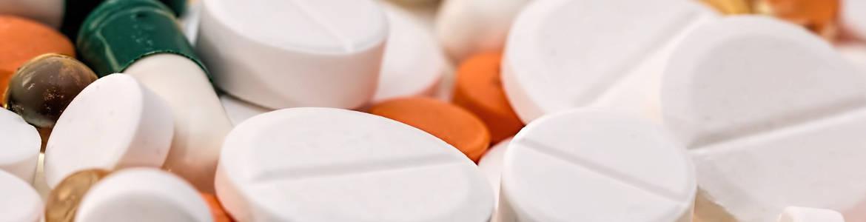 Muchas pastillas de colores