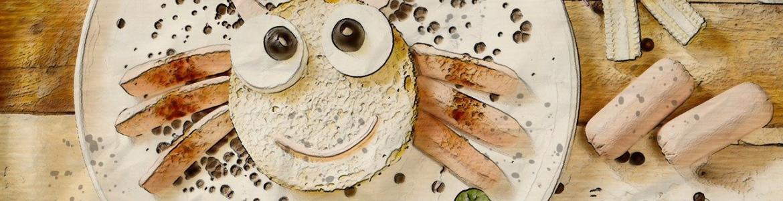 Pan cara con ojos vegetal
