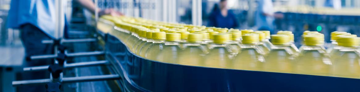 Línea de producción de una Industria de bebidas refrescantes