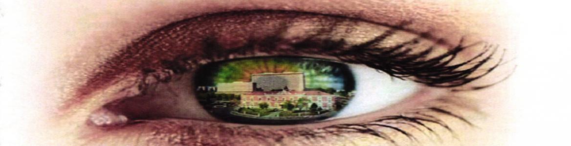 Ojo con la imagen del Hospital Central de la Defensa Gómez Ulla reflejada en la retina
