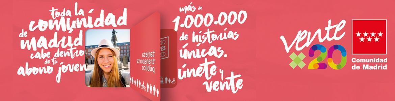 Imagen de la campaña del nuevo Abono Joven, ventex20
