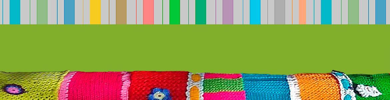 Ilustración con tejido de colores