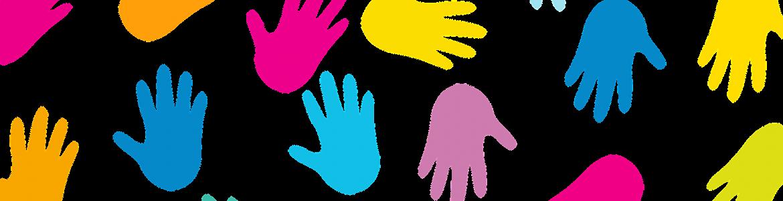 Dibujo de huellas de manos