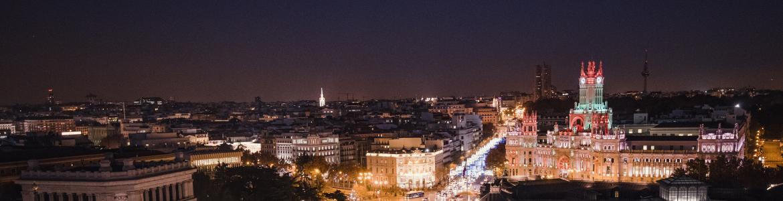 Skyline de la ciudad de Madrid