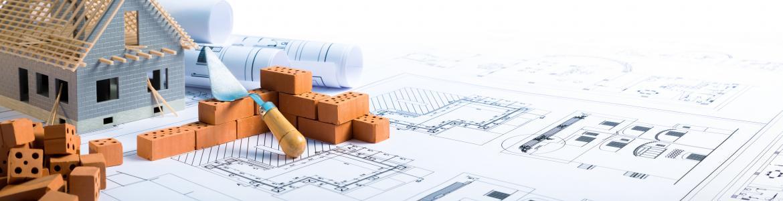 Imagen de una casa con planos