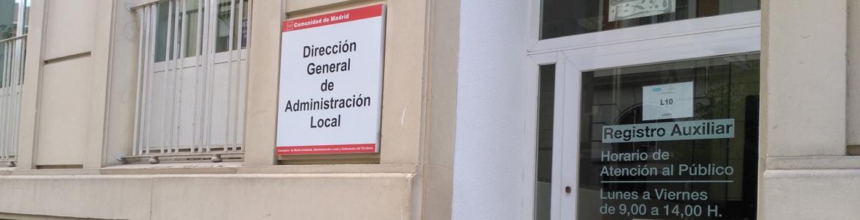 Edificio de la Dirección General de Administración Local en la calle Alcalá Galiano, 4