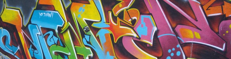 Imagen de pared con grafitti