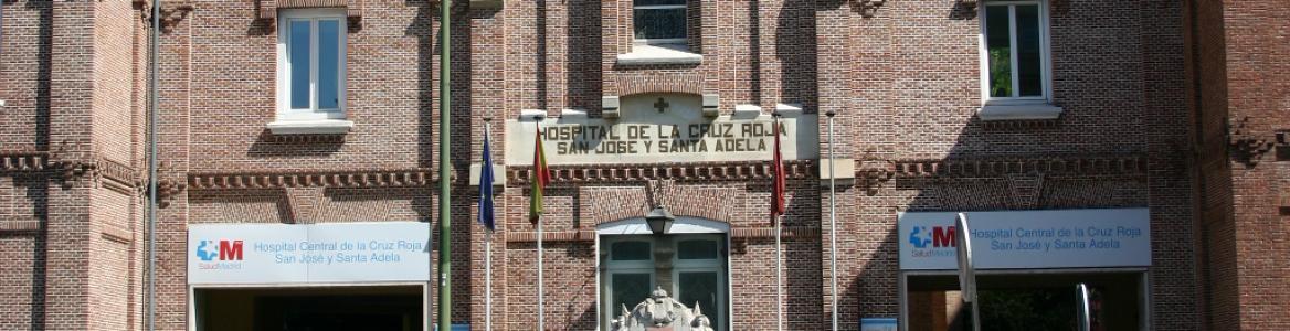Fachada del hospital central de la Cruz Roja Madrid