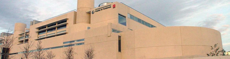 fachada del hospital de Fuenlabrada