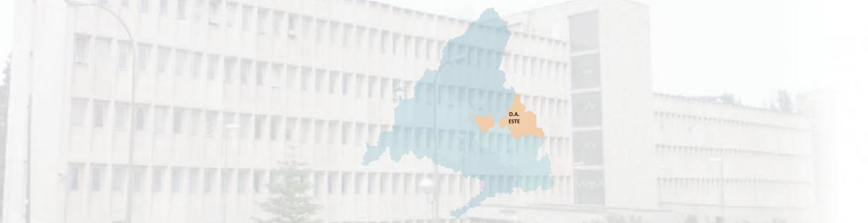 imagen de un edificio con el mapa de la DA Este superpuesto