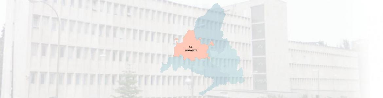 imagen de un edificio con el mapa de la DA Noroeste superpuesto
