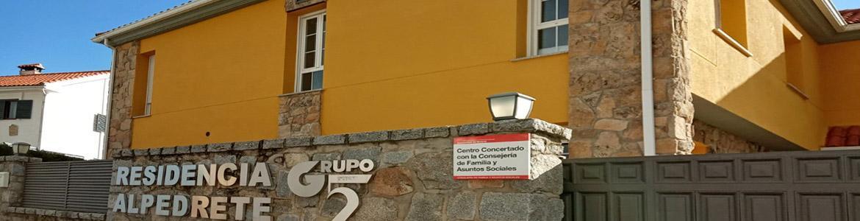 Fachada de la Residencia (MR) Alpedrete para personas con enfermedad mental