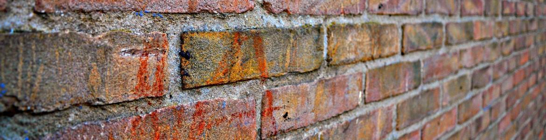 Imagen de una pared con vista ladrillos