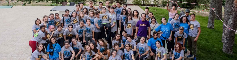 Foto de grupo de campo de voluntariado