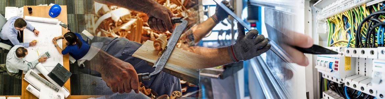Imagen de un taller de carpintería