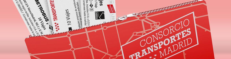 Imagen de la Tarjeta Multi como si fuera un billetero donde se meten los títulos de transporte