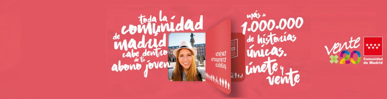 Imagen corporativa de la campaña Ventex20 para los usuarios del Abono Joven
