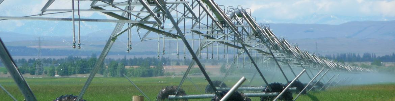 Imagen de un pivot de riego