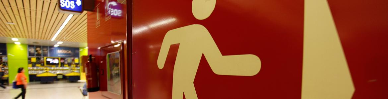 Imagen de la salida de emergencia del intercambiador de Moncloa