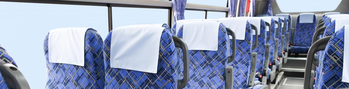 Asientos azules autobus