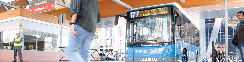 Autobús de la EMT en Plaza de Castilla