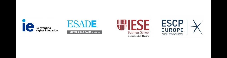 logos de las principales escuelas de negocios presentes en la Comunidad de Madrid