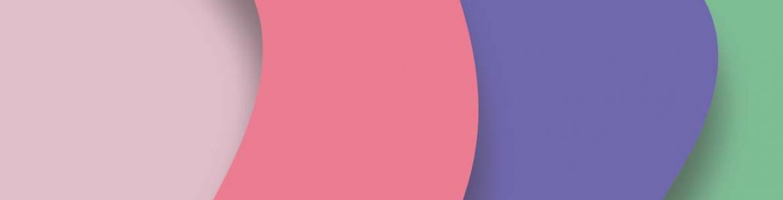 Imagen de ondas en color rosa, violeta y verde