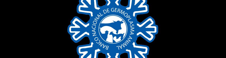 logotipo en blanco y azul del Banco Nacional de Germoplama Animal